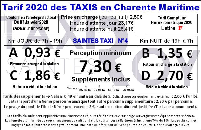 Tarif Taxi Roy 2020